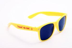 bedruckte Sonnenbrille mit Logo selbst gestalten & selbst designen | Werbeartikel | Promobrille